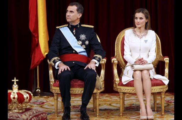 En junio de 2014 con su esposo, el recién ascendido Rey Felipe VI.