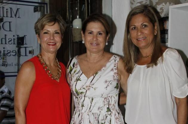 Eulalia Segrera, Susana Millán de Mishaan e Ingrid de Gómez.