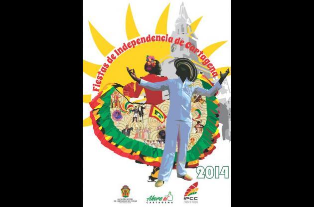 Este fue el afiche de las Fiestas de la Independencia 2014.