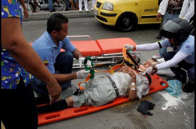 Pedro Peña, de 69 años, fue arrollado por un motociclista en la Avenida Pedro de Heredia.