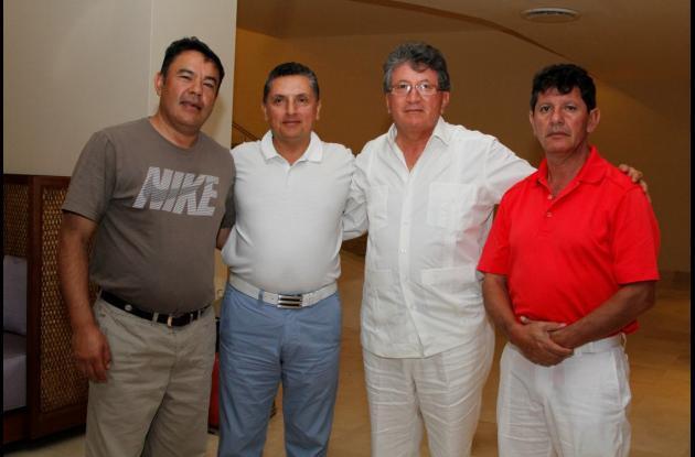 Luis Salamanca, Eduardo Suárez, Víctor Manuel Buitrago y Fernando Díaz.