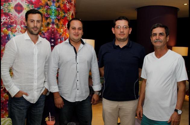 Ignacio Gagliardi, Carlos Lemus, Lus Eduardo Ruíz y Raúl Martínez.