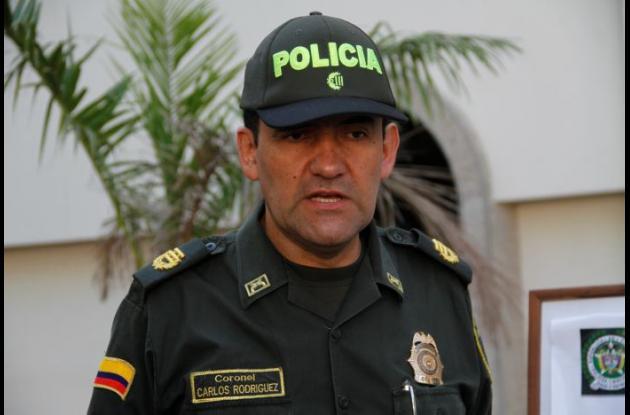 Coronel Carlos Rodríguez, comandante de la Policía Metropolitana de Cartagena.