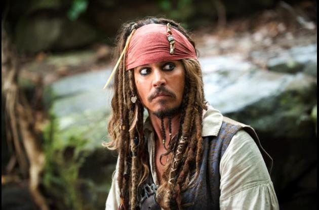 Johnny Depp en su personaje de Jack Sparrow.