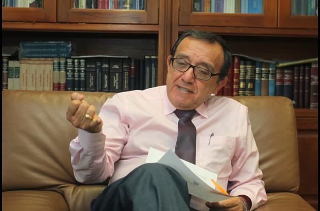 Presidente de la Corte Constitucional, Luis Ernesto Vargas Silva.