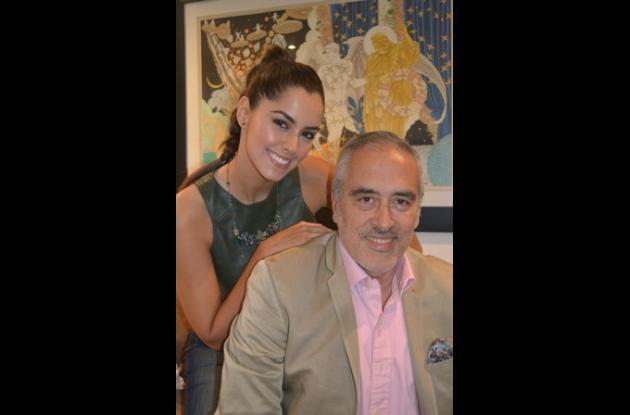 Paulina y su padre, el médico cardiólogo Rodolfo Vega Llamas