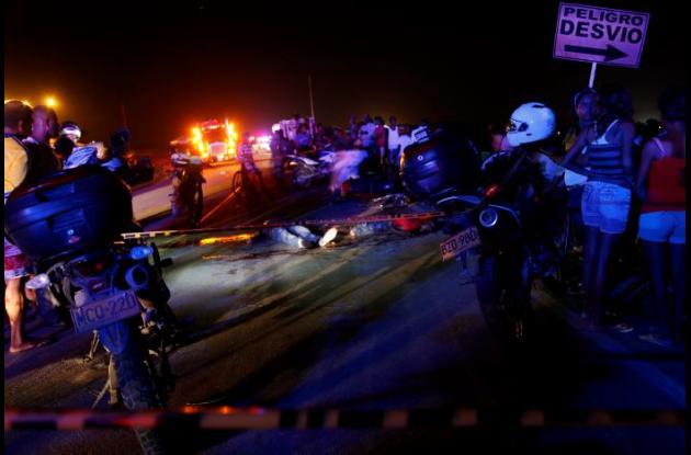 Choque de motos vía Barú, en el que murieron Gustavo Galeano y Edilberto Morelos.
