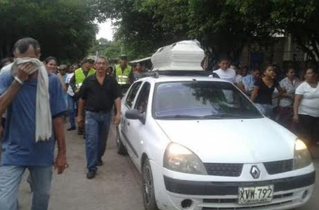Sepelio de niño que fue violado y asesinado en Simití, sur Bolívar.
