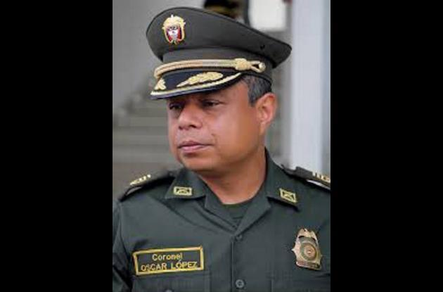 Coronel Óscar López Ortiz, comandante de la Policía de Sucre.