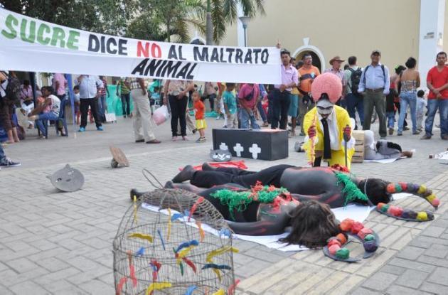 En Sincelejo, defensores de animales han realizado diferentes marchas por la defensa y protección de estos.