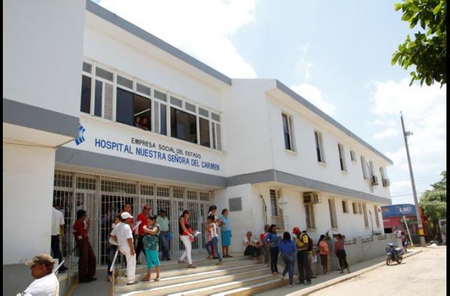"""La ESE Hospital Local Nuestra Señora del Carmen, de El Carmen de Bolívar, fue incluida en la categoría """"sin riesgo"""" financiero, según la información entregada por el propio Ministerio de Salud y Protección Social."""
