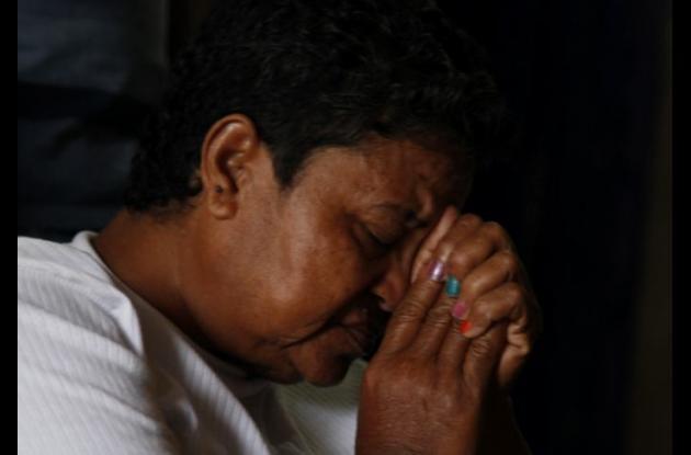 Melba Murillo, madre de Luis Pérez Murillo, quien fue asesinado por pandilleros en El Reposo.