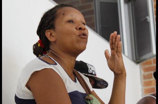 Marilis Zambrano, tía de Éder Acosta, quien fue asesinado por pandilleros en Nelson Mandela.