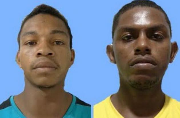 Mauricio Mendoza y Juan Pájaro, capturados por triple crimen en Malagana.