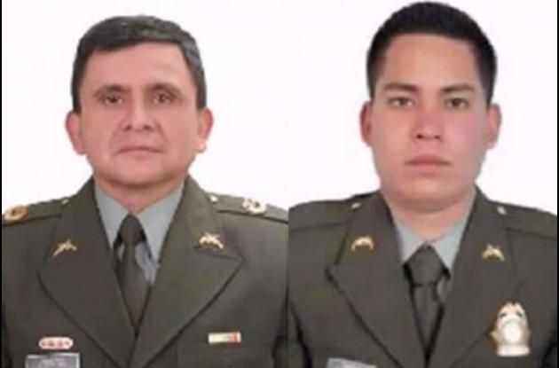 Policías asesinados en Nariño