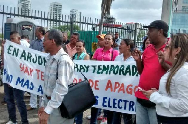 Protestas contra  electricaribe.