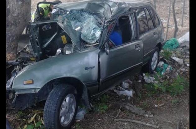 Dielver Ospino salió herido al chocar en su carro contra un árbol, en la variante Mamonal-Turbaco.