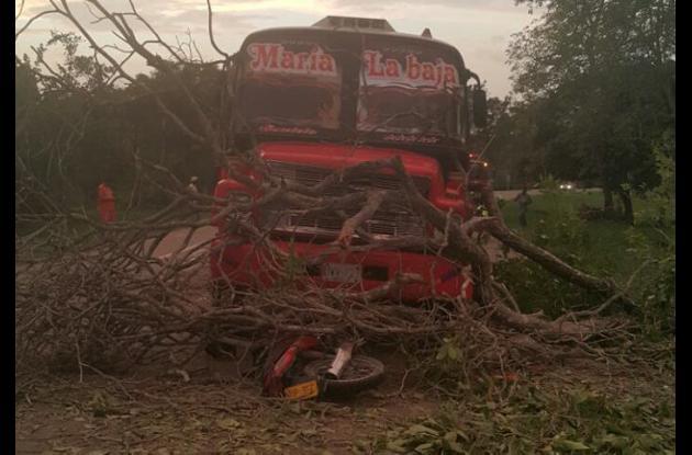 El accidente en el que salió herido Carlos Flórez Herrera ocurrió en el sector Coco Frío de Turbaco, el 21 de julio pasado.