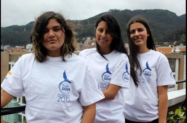 Juanita Porras Sepúlveda, Daniela Suárez Rivera y María Jaramillo Restrepo.