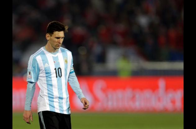 Lionel Messi luego de la derrota ante Chile por la final de la Copa América.