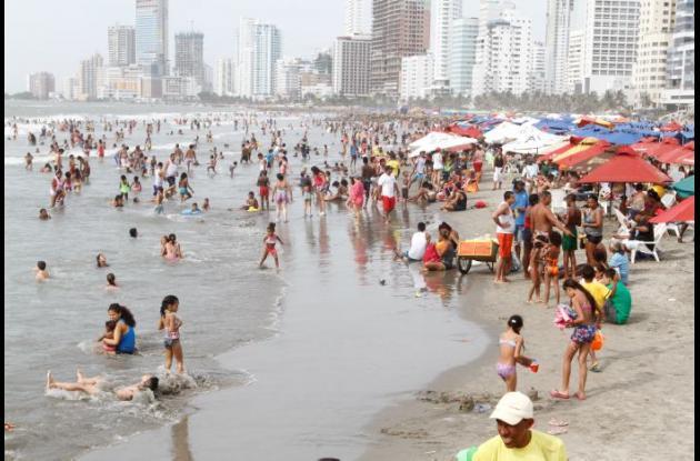 Temporada turística de mitad de año en Cartagena