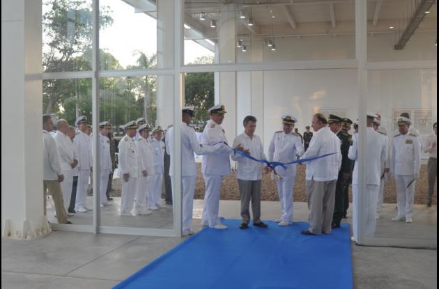 El presidente Juan Manuel Santos durante la inauguración de las obras.