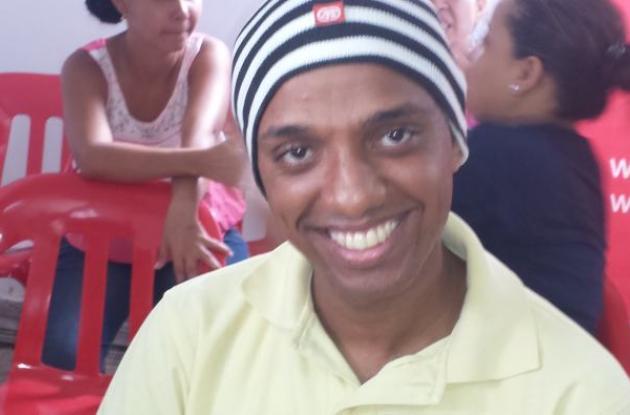 Alán Enrique Asprilla Blanco, de 28 años, quiere trabajar en logística y organización de eventos.