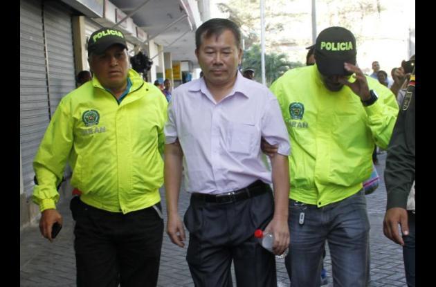 Wu Hong, capitán de buque que fue capturado luego que en la nave hallaran pólvora y municiones. Mamonal.
