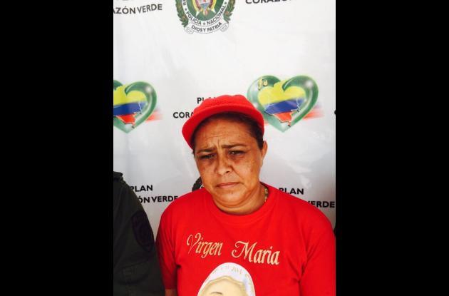 Juth Daris del Cristo Rodríguez Pérez, capturada por extorsión.