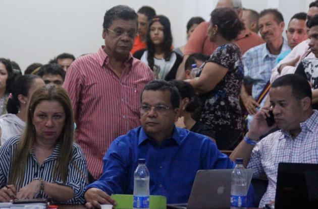 Audiencia jueces, fiscal y abogados capturados en Barranquilla, señalados de actos de corrupción.
