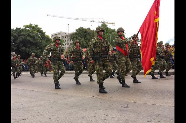 Desfile de las Fuerzas Armadas en Barranquilla.