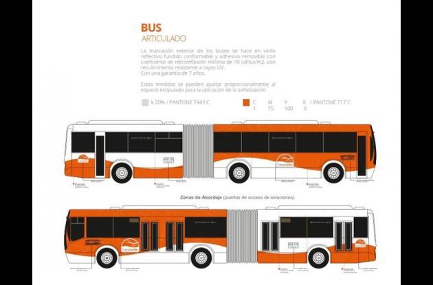Así serán los buses de Transcaribe.