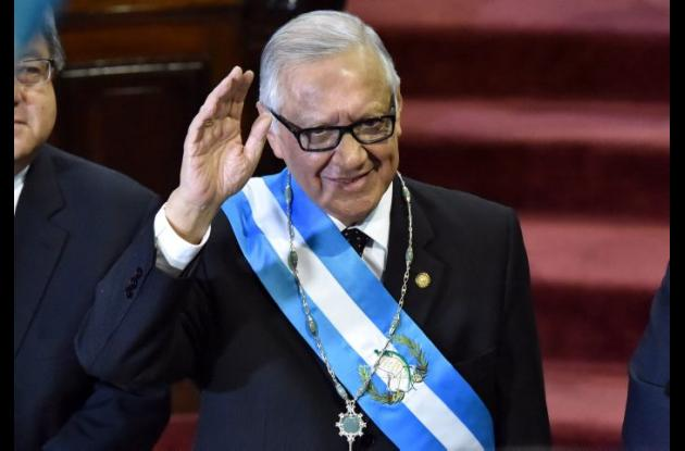 Alejandro Maldonado, presidente de Guatemala.