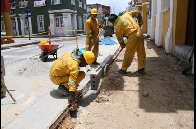 Obras de rehabilitación en Centro y Getsemaní