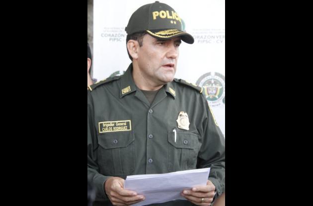 General Rodríguez, comandante de la Policía Metropolitana de Cartagena.