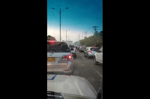 Protesta en Mamonal genera trancón vehicular
