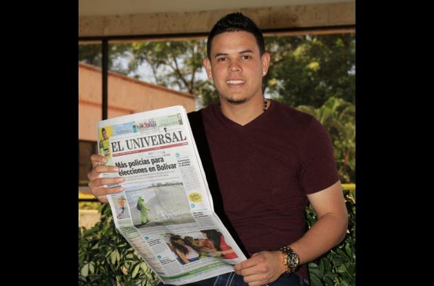 Giovanny Urshela estuvo en las instalaciones del periódico El Universal y habló sobre su primera temporada en Grandes Ligas.