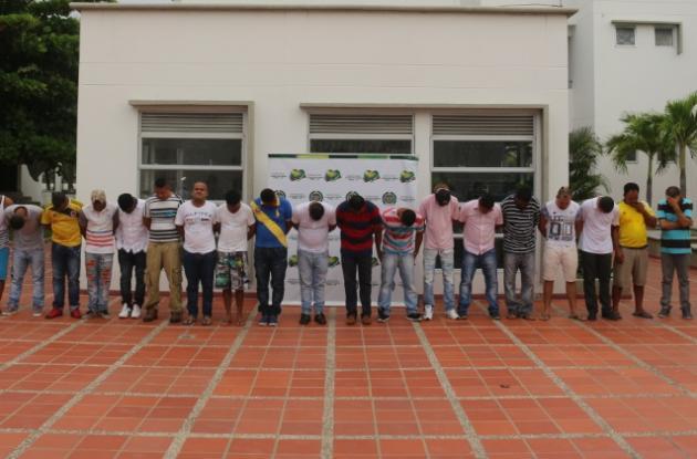 20 capturados por venta de drogas y extorsiones a turistas en el Centro de Cartagena.