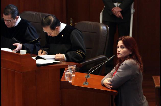 La periodista, Claudia Julieta Duque