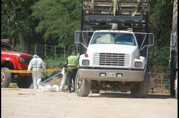 El accidente en el que murió Julio César Carrillo ocurrió ayer en el parqueadero de una empresa, que está junto a la variante Mamonal-Gambote, en jurisdicción de Arjona.