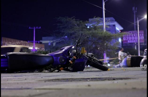 Ciro Fuentes murió tras sufrir un accidente en moto, que ocurrió en la Avenida Pedro de Heredia, frente al colegio Real Cartagena.
