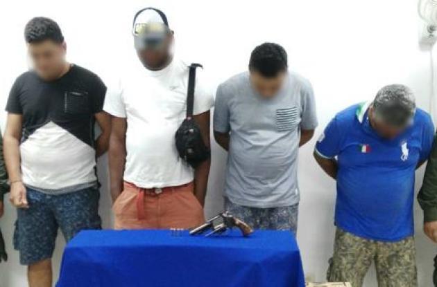 Capturas por porte ilegal de armas en Cartagena