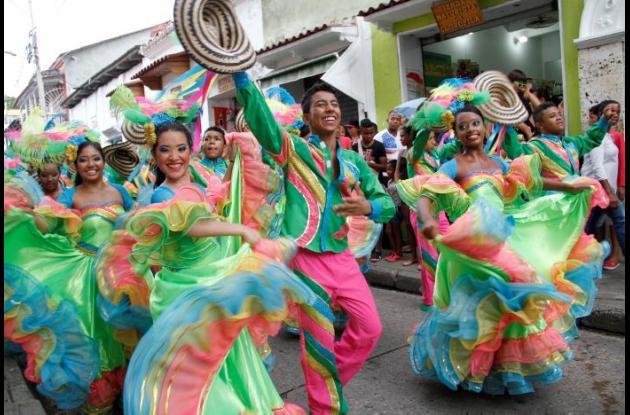 El Desfile Estudiantil es uno de los eventos más tradicionales de las Fiestas de Independencia de Cartagena.