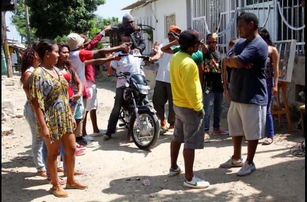 Grabación de escena de Ángeles de Calle.