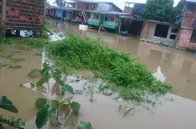 Inundación en Timbiquí
