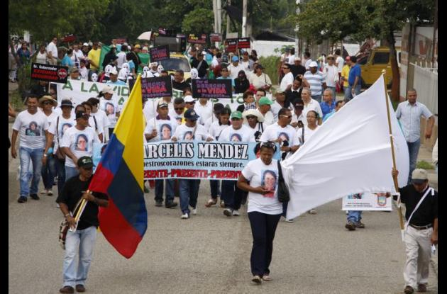 Marcha por la paz en Sincelejo