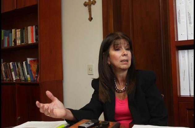 presidenta de la Corte Constitucional, María Victoria Calle,