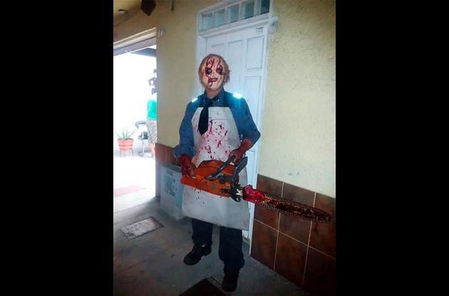 Disfrazado causo terror en 'El cerrito'