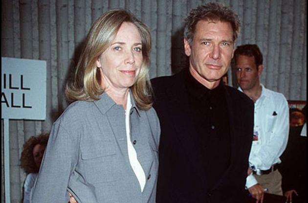 Melissa Mathison junto a su exesposo Harrison Ford.