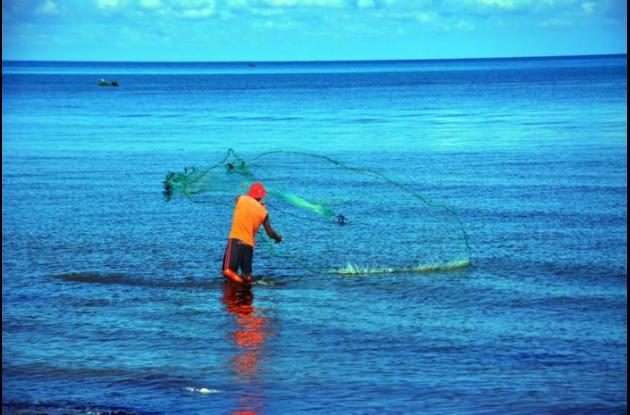Pescar quisieras el azul, pescar las olas. Pescar los peces de brillantes galas. Pescar algas de amor, liquen de fiesta. Pescar la vida, pescar la magia que enaltece el día, sacar con tu atarraya el canto y la alegría.